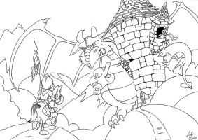 George and the Dragon by louisesaunders