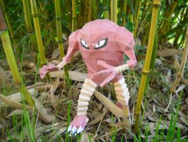 Hitmonlee Papercraft by TimBauer92