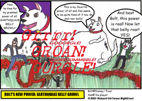 Bolt's Earthquake belly growl by NightCrestComics