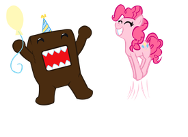 Domo's Pinkie Party by Luigimariogmod