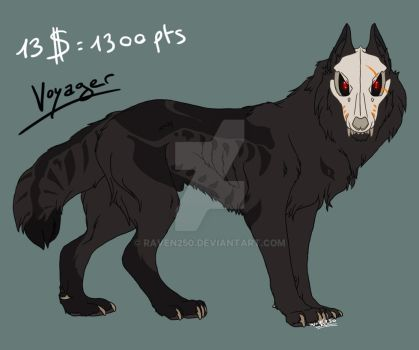 Adoptable - Cursed Wolf - SOLD by StarkHolmes