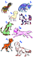 Canine Adoptables-CLOSED! by DeerNTheHeadlights