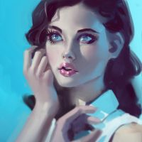 Portrait blue by medders