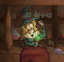 Witch barmaid by Seikame
