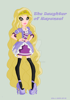 EAH Oc, Violet , The daughter of Rapzunsel by Loveyraspberry