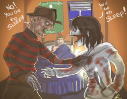 Freddy VS Jeff? by Kiki4rich