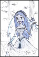 Emily The Corpse Bride Disney Princess Style by LucieKJ