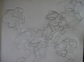 Madcat Mech Warrior Sketches by amirila