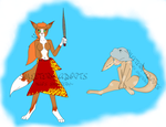 Two Anthro Fox Adoptables (OPEN) by SmeeteryAdopts