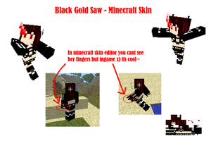 Black Gold Saw -Minecraft skin by T1A60