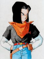 Android 17, so hot by Kyokyogirl