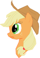 Angry applejack simple vector by deathblob