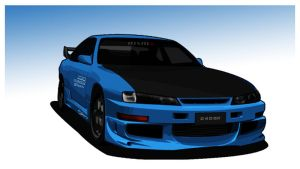 Nissan 240SX S14 by myxz