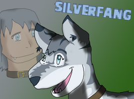 Silverfang again with human by JinjoJess