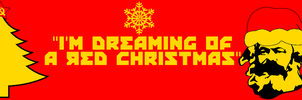 Red Christmas Banner by mclj10
