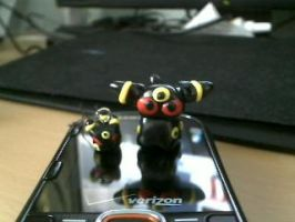 Umbreon chibi and cell charm by Mirera