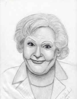 Betty White by Klench-Art