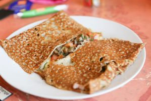 Crepe with mushrooms by patchow