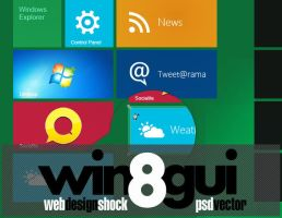 Full Windows 8 GUI Theme set by Iconshock