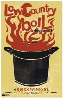 Lowcountry Boil Poster by noQuarterstudios