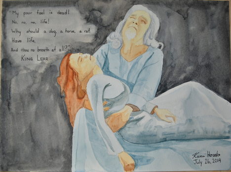 King Lear Holding Cordelia (Act 5) by junglekatz2002