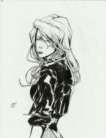 Black Canary ink by AaronNSN