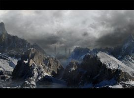 the three towers by Still-Cg