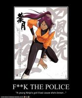 Yoruichi Demotivational Poster by Red-Rum-18