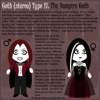 Goth Type 17: The Vampire Goth by Trellia