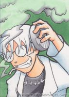 Soul Eater doctor Stein Sketch card by JoeOiii