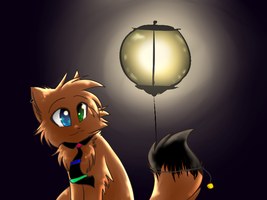 By a Lamp by Spottedfire-cat