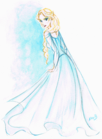 Disney's Frozen - Elsa - La Reine des Neiges by alexanderbim
