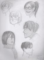 i tried drawing some snk today by cathleiathefox