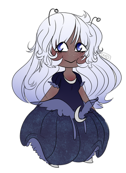 Sketchy Space Girl Adopt (Sold) by ApplepieswCinnamon