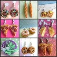 Food Earrings by LittleSweetDreams