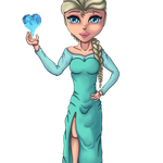 Elsa from Frozen (Animated Gif) :3 by Krisph