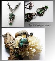Nesta- wire wrapped copper necklace by mea00