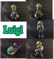 Luigi Sculpture: Collage by ClayPita