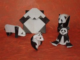 Origami Pandas -yay by origami-artist-galen