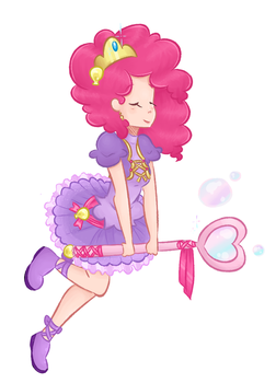 Magical girl Pinkie Pie by theluckyangel