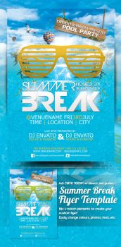 Summer Break Flyer Preview by mrkra