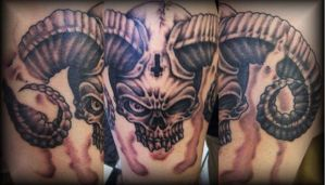 demon skull by tattoos-by-zip