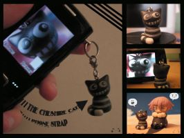 Cheshire Cat Phone Strap by Monsieur-Chat