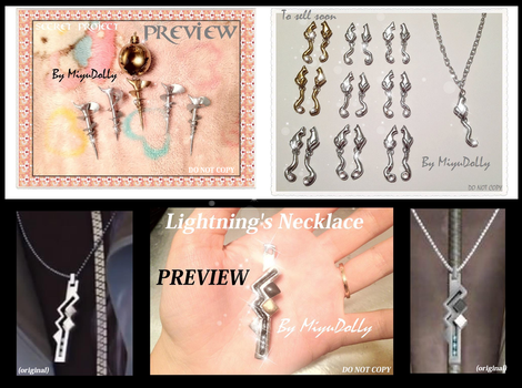 Final Fantasy 13/13-2 Jewelry to sell in 2013 by MiyuDoLLy