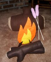 Campfire Playset by kiddomerriweather