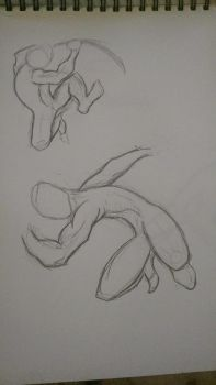 Sketch: Action Poses by Dawn2Nightfall