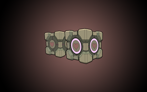 Companion Cube Wallpaper by Terror-Inferno