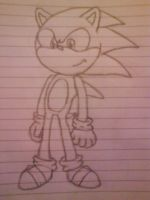 Sonic scetch by LexyHedgehog