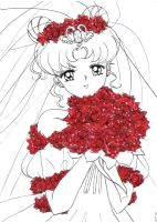 Sailor Moon - Usagi wedding by Hitori86