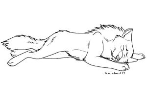 Sweet Dreams Lineart by ScorchWolf1